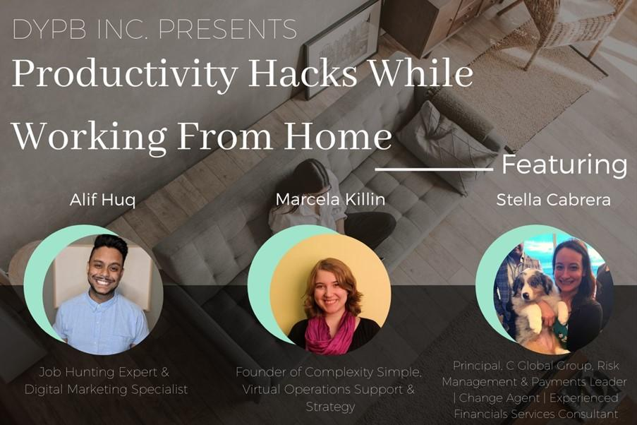 DYPB Webinar – Productivity Hacks While Working From Home